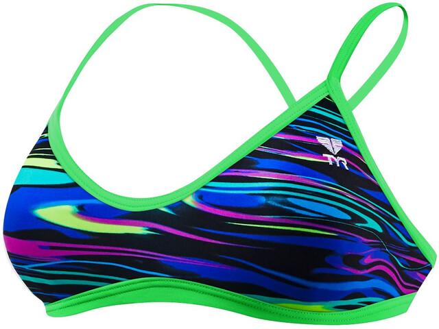 TYR Fresno Trinity Bikini Top Women blue/multi
